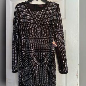 Rhinestone bodycon dress